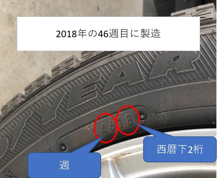 タイヤ製造年月日表示画像